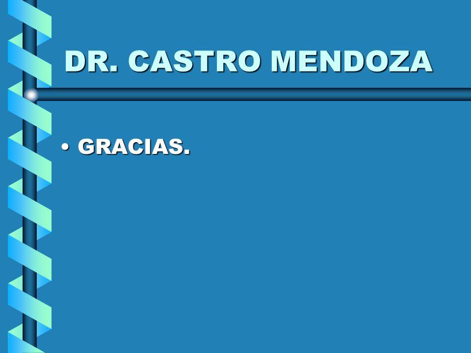 DR. CASTRO MENDOZA GRACIAS.GRACIAS.