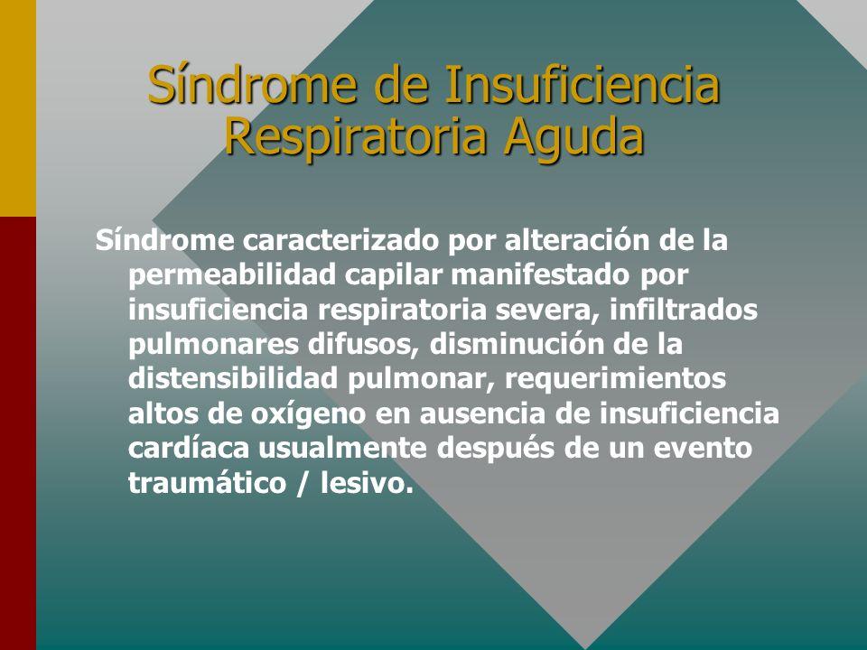 Factores desencadenantes de Insuficiencia Respiratoria Cardiopatía isquémica Embolia pulmonar Desnutrición DHE : K, Mg, P Sedantes e Hipnóticos Aument