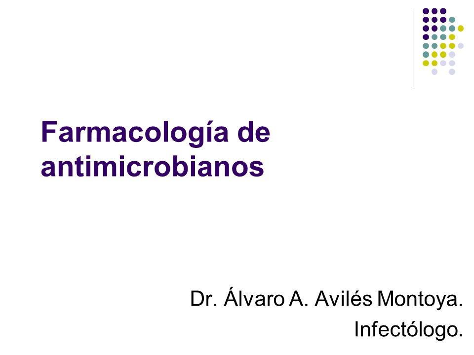 Farmacología de antimicrobianos Dr. Álvaro A. Avilés Montoya. Infectólogo.