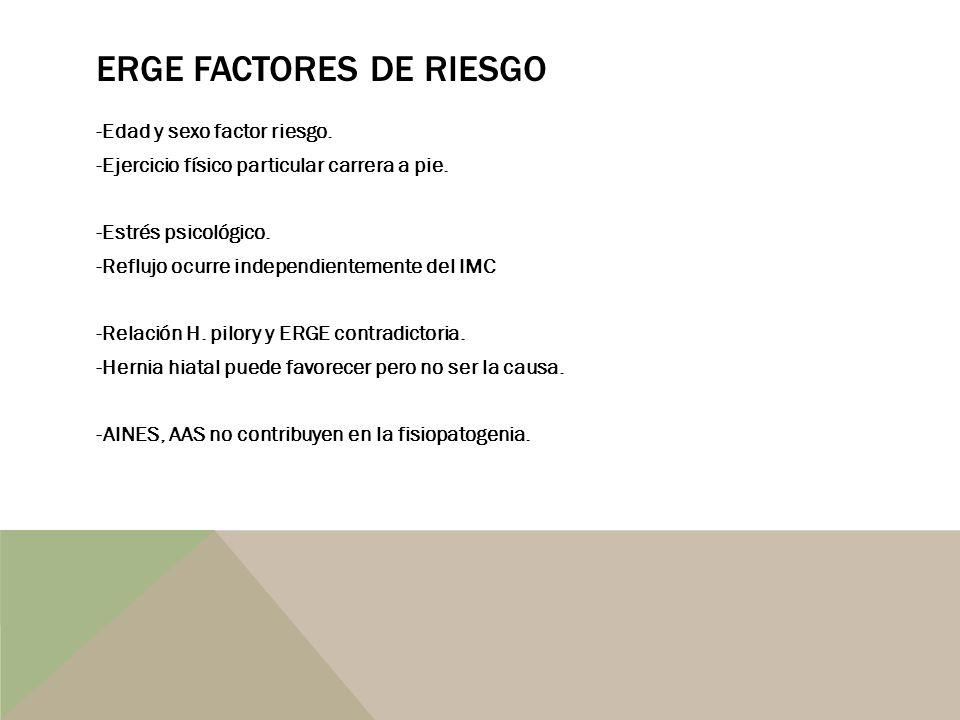 ERGE FACTORES DE RIESGO