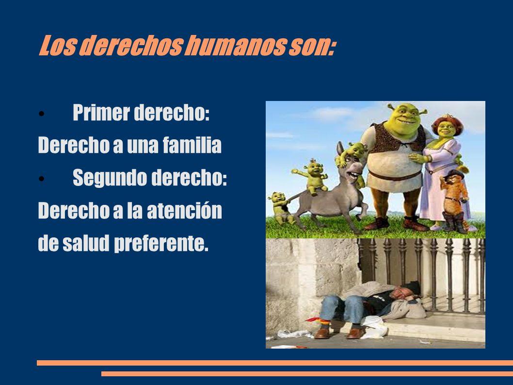 Más derechos humanos: Tercer derecho: Derecho a la alimentación Cuarto derecho: Derecho a no ser dicriminados.