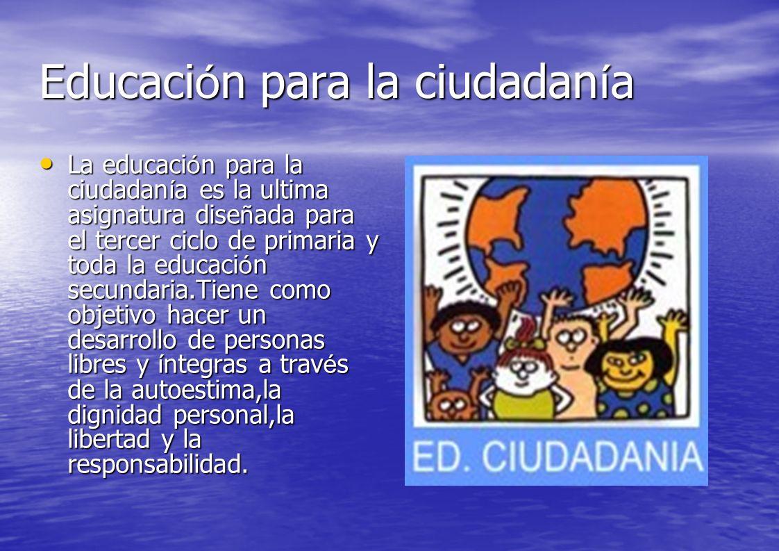 Educaci ó n para la ciudadan í a y los derechos humanos