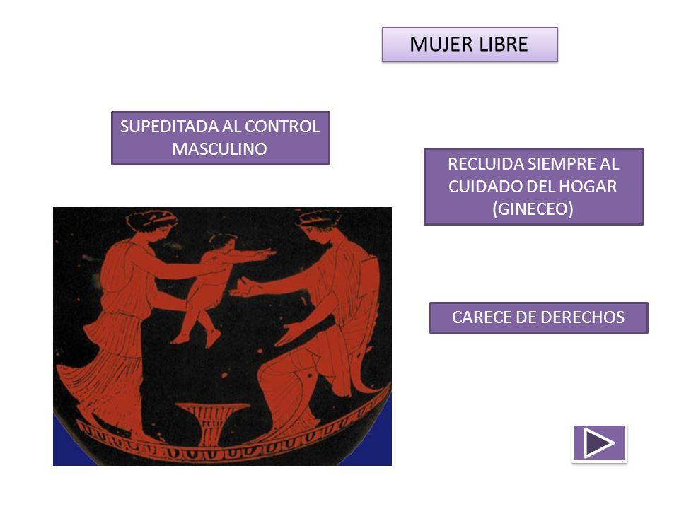 SUPEDITADA AL CONTROL MASCULINO RECLUIDA SIEMPRE AL CUIDADO DEL HOGAR (GINECEO) CARECE DE DERECHOS MUJER LIBRE