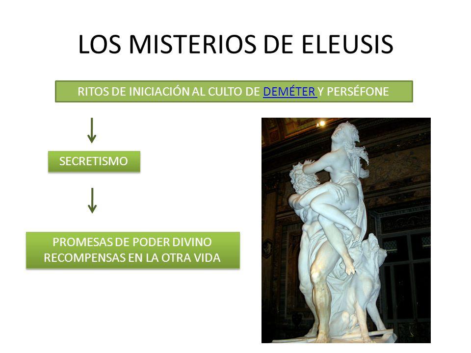 LOS MISTERIOS DE ELEUSIS RITOS DE INICIACIÓN AL CULTO DE DEMÉTER Y PERSÉFONEDEMÉTER SECRETISMO PROMESAS DE PODER DIVINO RECOMPENSAS EN LA OTRA VIDA PR