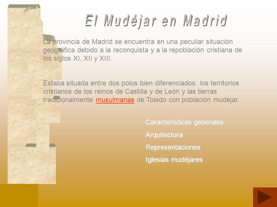 La provincia de Madrid se encuentra en una peculiar situación geográfica debido a la reconquista y a la repoblación cristiana de los siglos XI, XII y