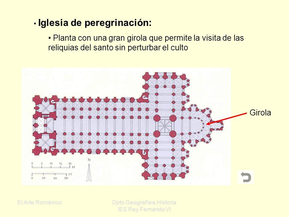 El Arte RománicoDpto Geografía e Historia IES Rey Fernando VI Planta de cruz latina: Planta que imita una cruz con dos brazos desiguales Simbología de