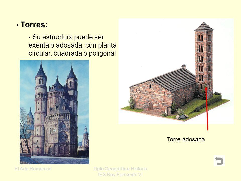 El Arte RománicoDpto Geografía e Historia IES Rey Fernando VI Elementos exteriores TorresPortadasÁbsidesCimborrios