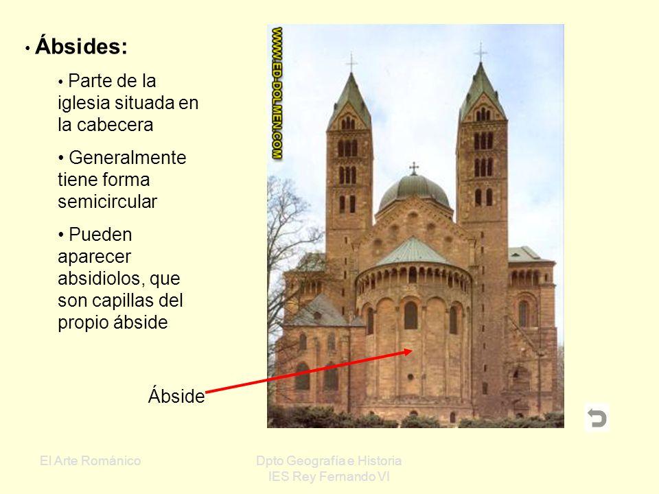 El Arte RománicoDpto Geografía e Historia IES Rey Fernando VI Portada románica