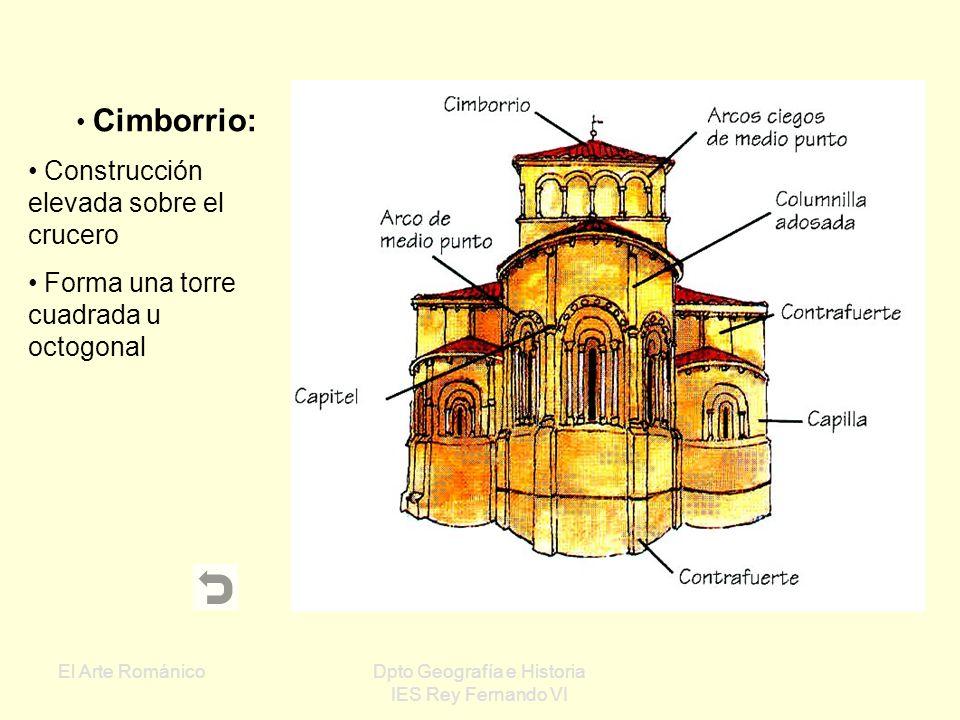 El Arte RománicoDpto Geografía e Historia IES Rey Fernando VI Ábsides: Parte de la iglesia situada en la cabecera Generalmente tiene forma semicircula