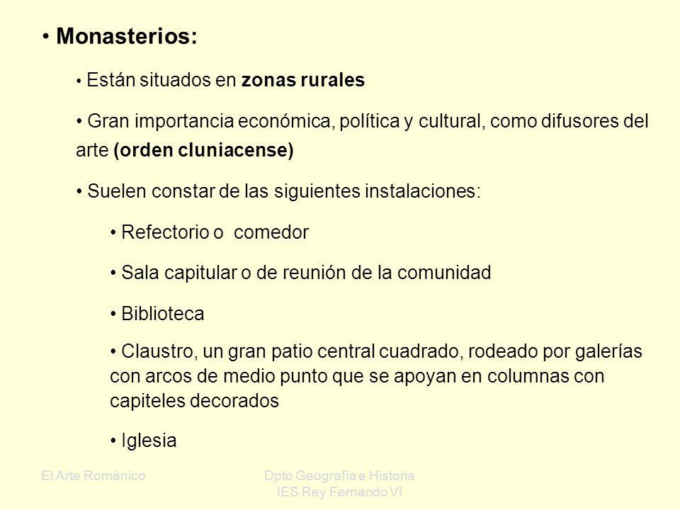 El Arte RománicoDpto Geografía e Historia IES Rey Fernando VI Esquema de la construcción de una iglesia