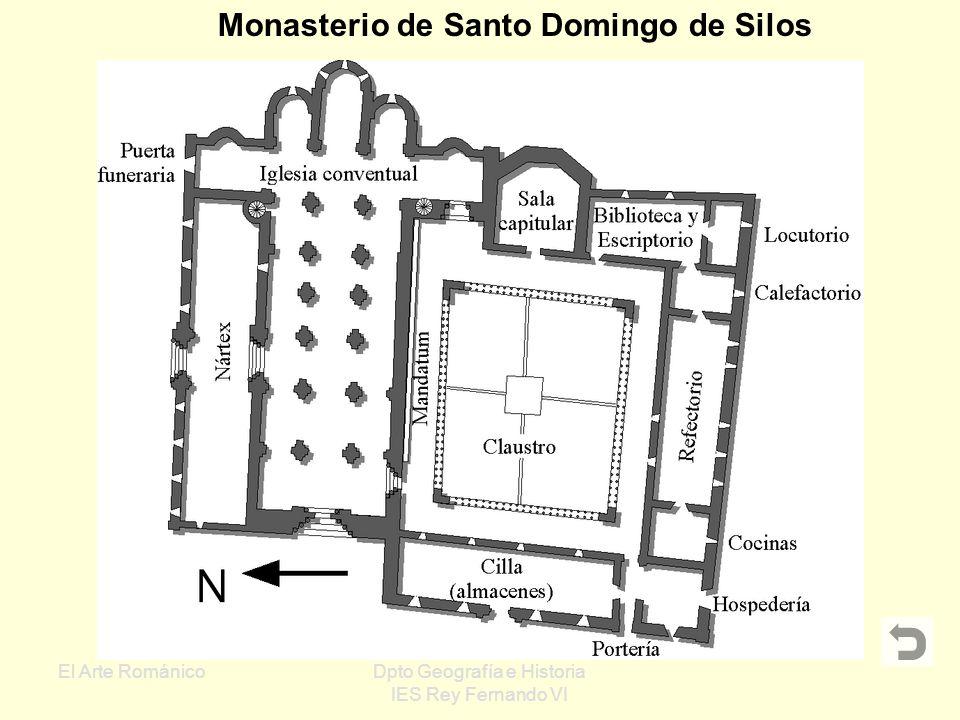 El Arte RománicoDpto Geografía e Historia IES Rey Fernando VI Monasterios: Están situados en zonas rurales Gran importancia económica, política y cult