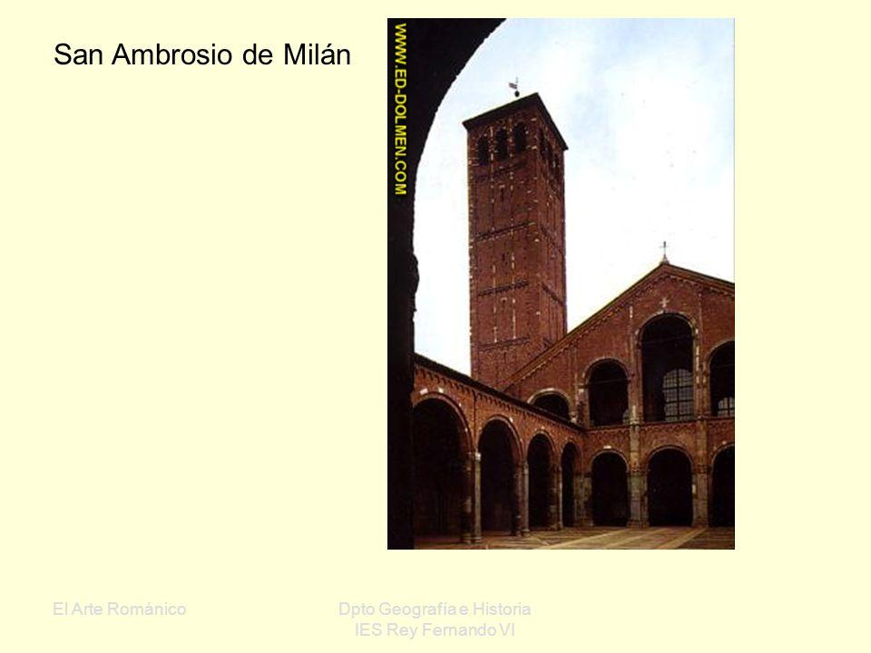El Arte RománicoDpto Geografía e Historia IES Rey Fernando VI Conjunto de Pisa Baptisterio Catedral Campanario