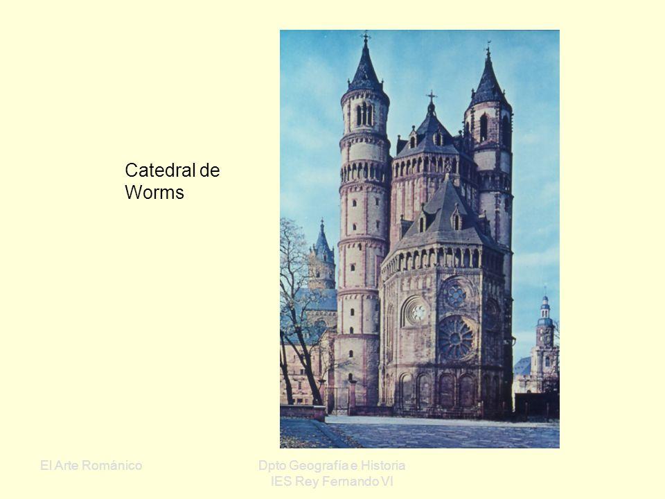 El Arte RománicoDpto Geografía e Historia IES Rey Fernando VI Románico alemán: Edificios grandiosos y monumentales, con bóvedas de arista Las naves su