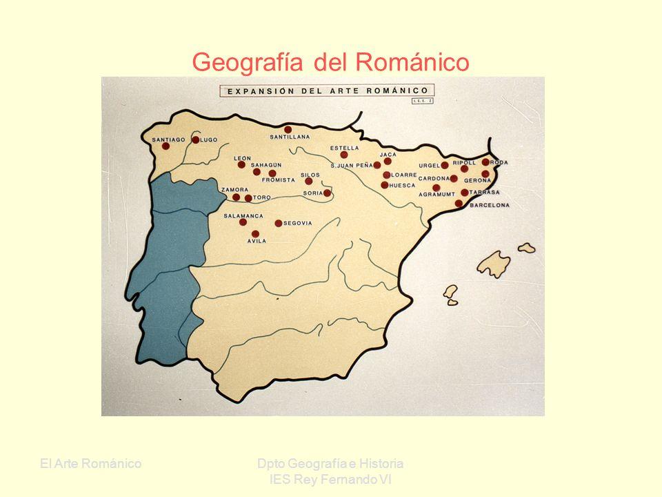 El Arte RománicoDpto Geografía e Historia IES Rey Fernando VI Factores que lo condicionan: La sociedad feudal era fundamentalmente rural Gran poder ec