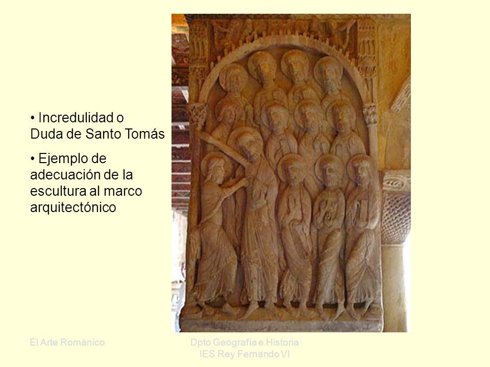 El Arte RománicoDpto Geografía e Historia IES Rey Fernando VI Claustro del Monasterio de Silos Capiteles decorados