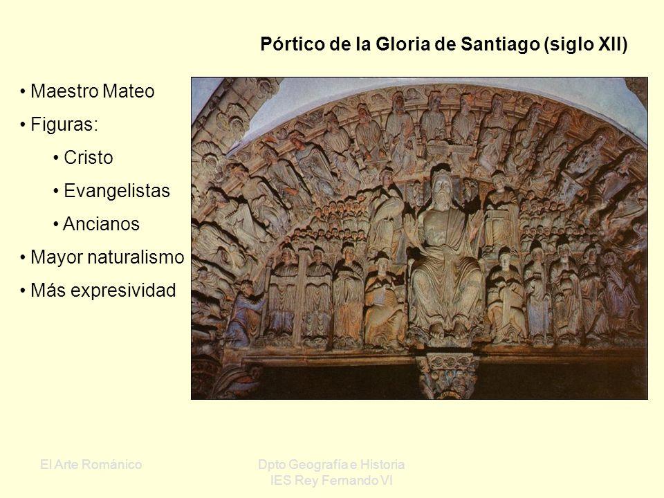 El Arte RománicoDpto Geografía e Historia IES Rey Fernando VI Incredulidad o Duda de Santo Tomás Ejemplo de adecuación de la escultura al marco arquit