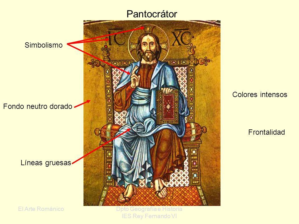 El Arte RománicoDpto Geografía e Historia IES Rey Fernando VI IV Pintura del Románico La técnica principal es el fresco, que se aplica sobre los muros