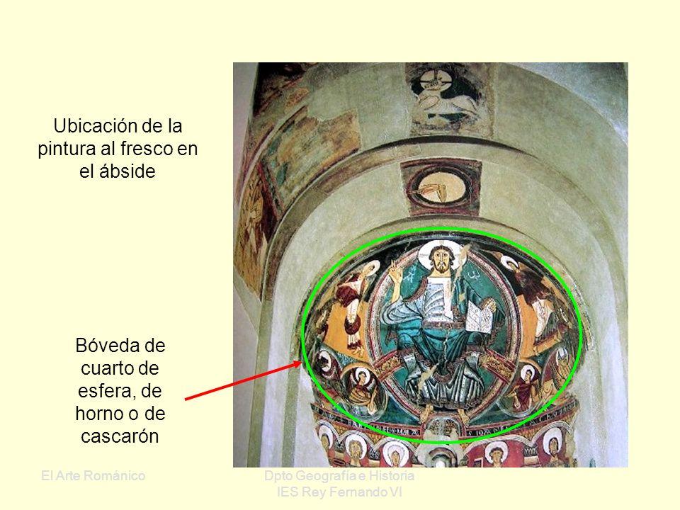 El Arte RománicoDpto Geografía e Historia IES Rey Fernando VI San Clemente de Tahull : Tema: Pantocrátor Mandorla mística Expresionismo