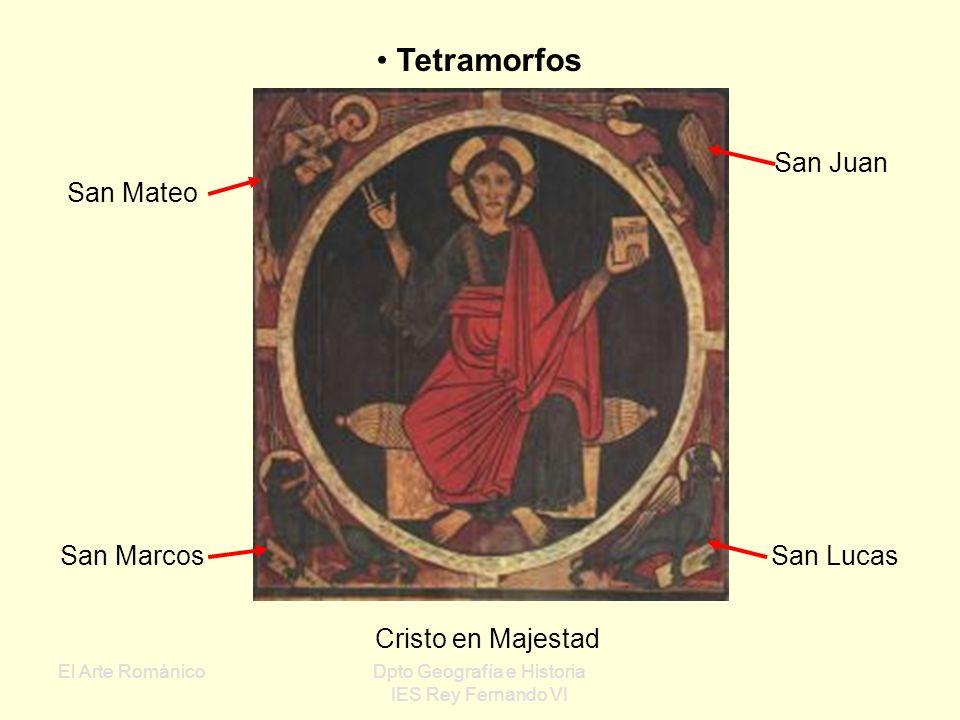 El Arte RománicoDpto Geografía e Historia IES Rey Fernando VI Ubicación de la pintura al fresco en el ábside Bóveda de cuarto de esfera, de horno o de