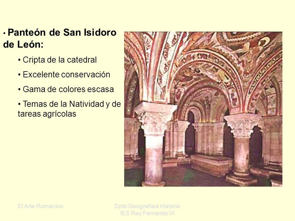 El Arte RománicoDpto Geografía e Historia IES Rey Fernando VI San Baudelio de Berlanga (Soria): Escenas de caza Fondos neutros, esquematismo y dinamis