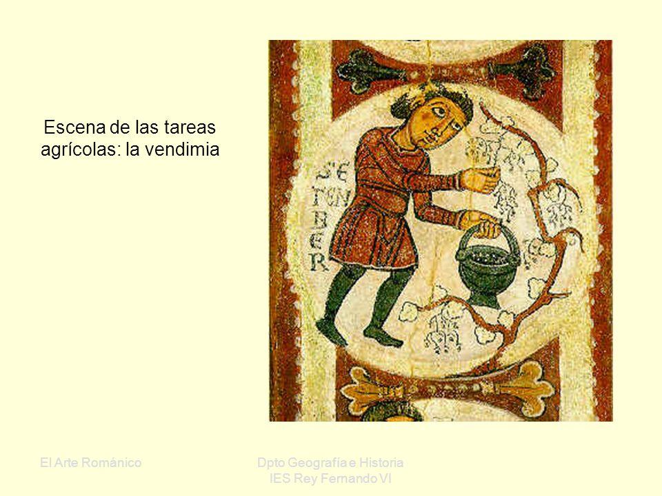 El Arte RománicoDpto Geografía e Historia IES Rey Fernando VI Escena de pastores y ángeles de la Natividad