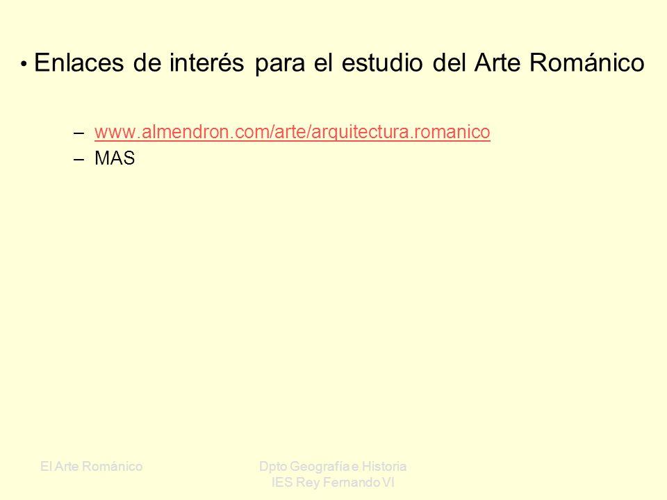 El Arte RománicoDpto Geografía e Historia IES Rey Fernando VI Miniatura de un códice con una aparición de Cristo