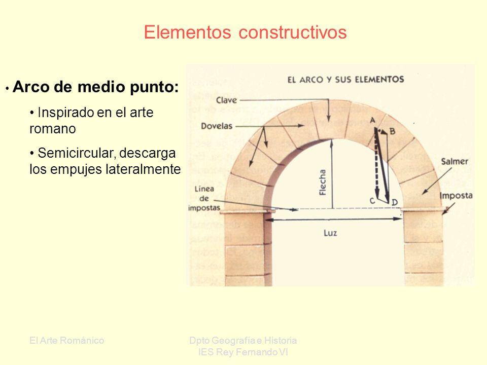 El Arte RománicoDpto Geografía e Historia IES Rey Fernando VI Material constructivo fundamental: piedra cortada en sillares regulares II ARQUITECTURA