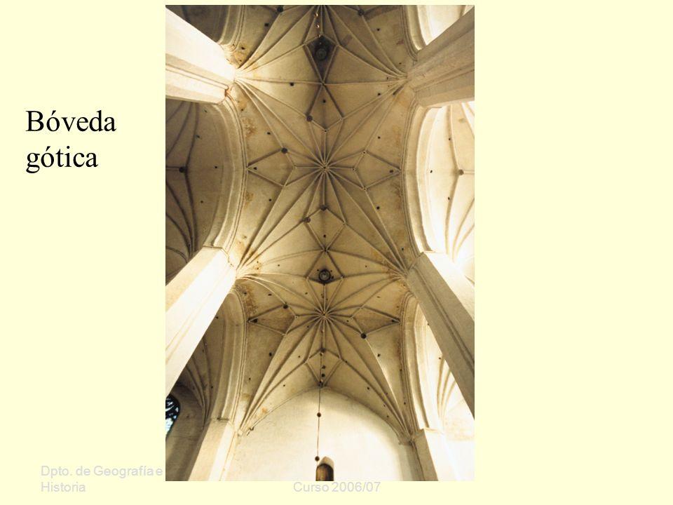 Dpto. de Geografía e Historia Sergio Oriol Gómez Curso 2006/07 Bóveda gótica