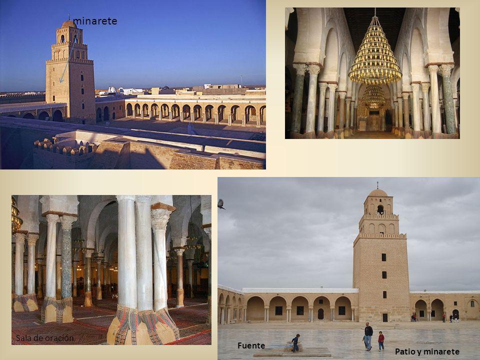 minarete sahn Sala de oración Patio y minarete Fuente