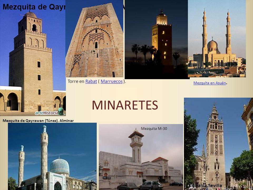 Mezquita de Qayrawan (Túnez). Alminar Mezquita de Qayrawan (Túnez). Alminar Torre en Rabat ( Marruecos ).RabatMarruecos Mezquita en Asuán.Mezquita en