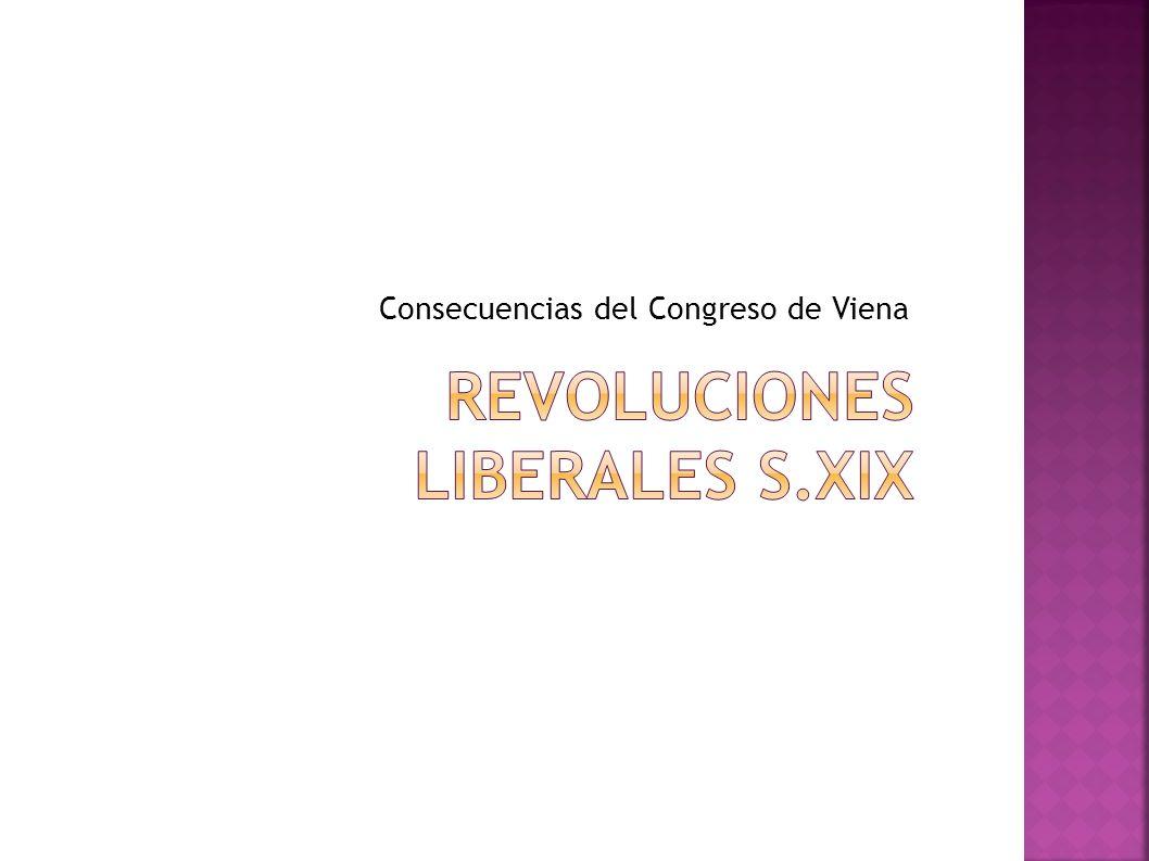 Consecuencias del Congreso de Viena
