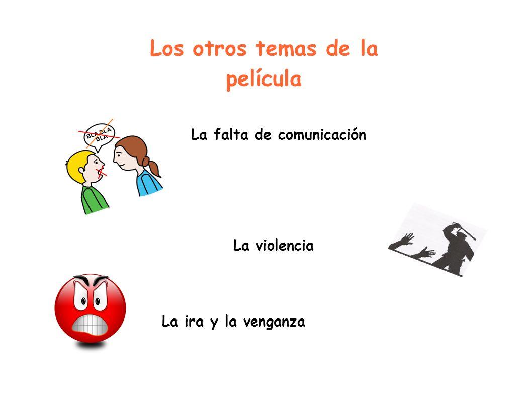 Los otros temas de la película La falta de comunicación La violencia La ira y la venganza