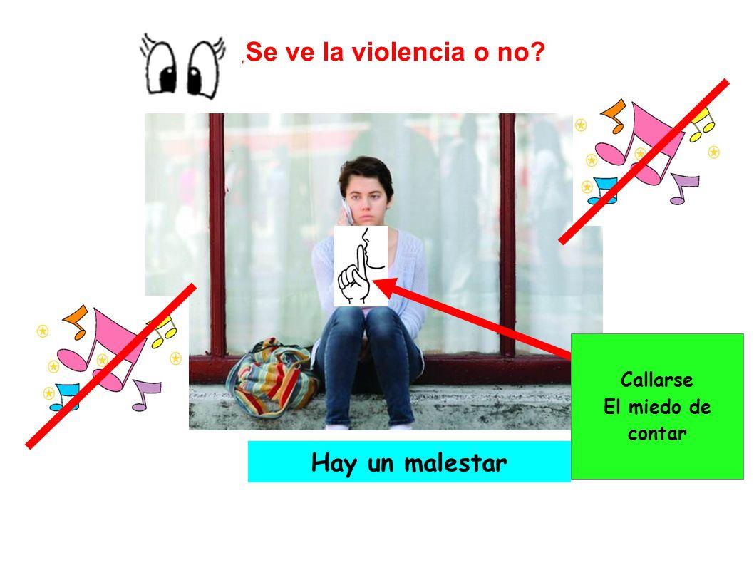 ¿Se ve la violencia o no? Hay un malestar Callarse El miedo de contar