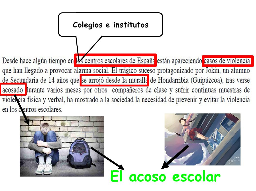 Colegios e institutos El acoso escolar