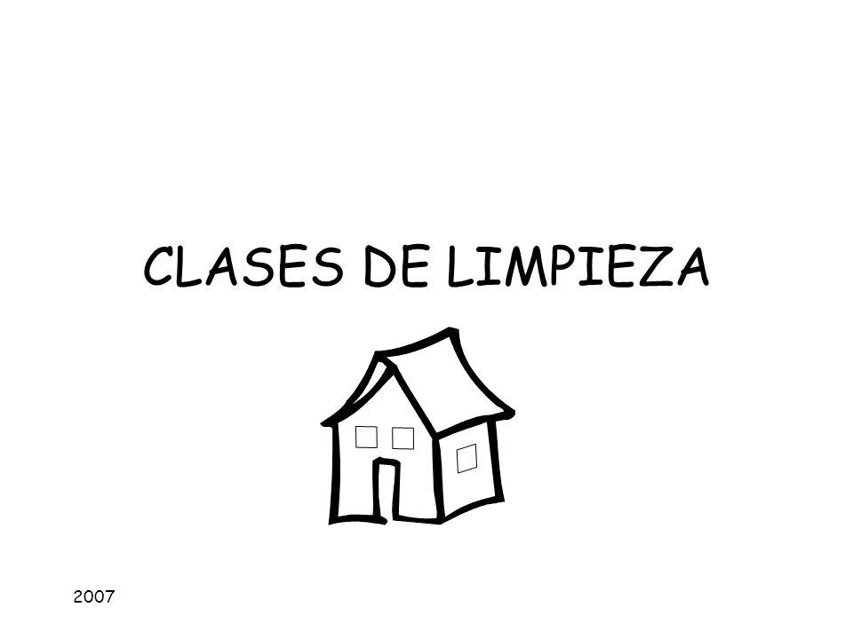 2007 CLASES DE LIMPIEZA