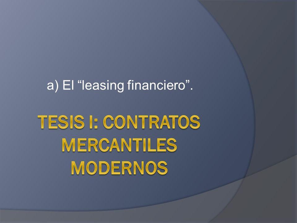 a) El leasing financiero.
