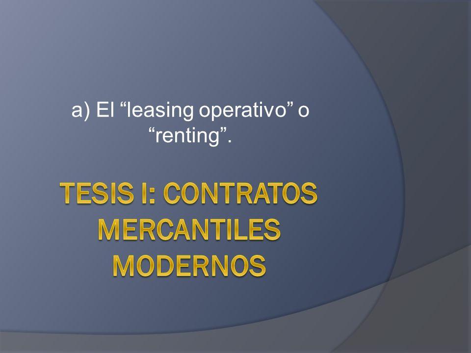 a) El leasing operativo o renting.
