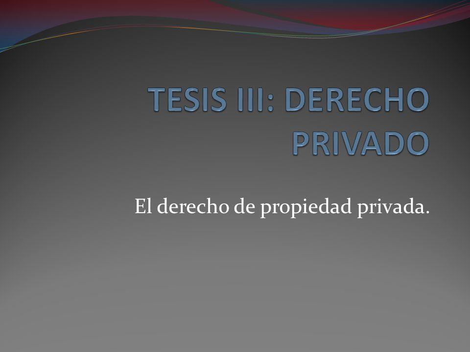 El derecho de propiedad privada.