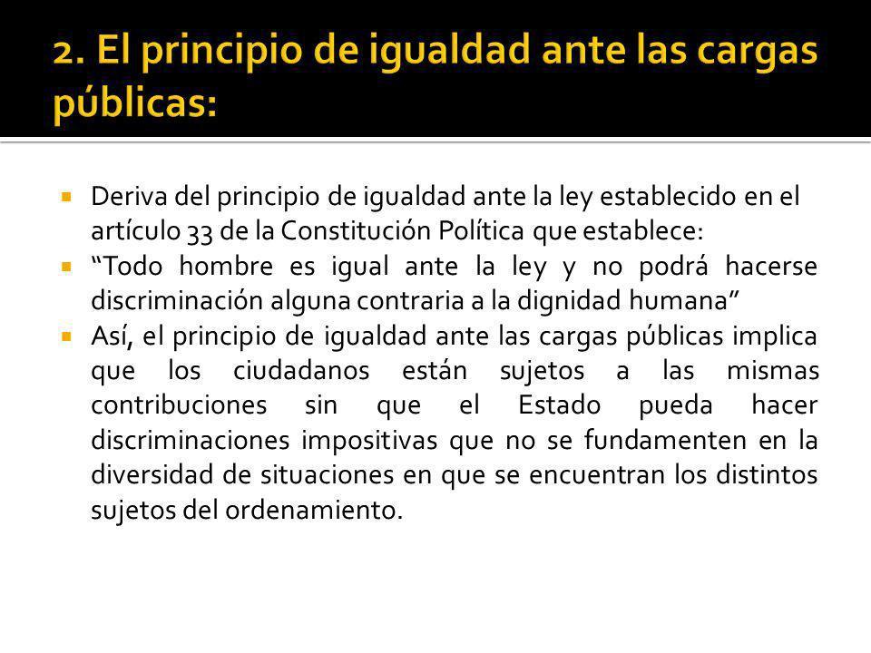 Deriva del principio de igualdad ante la ley establecido en el artículo 33 de la Constitución Política que establece: Todo hombre es igual ante la ley