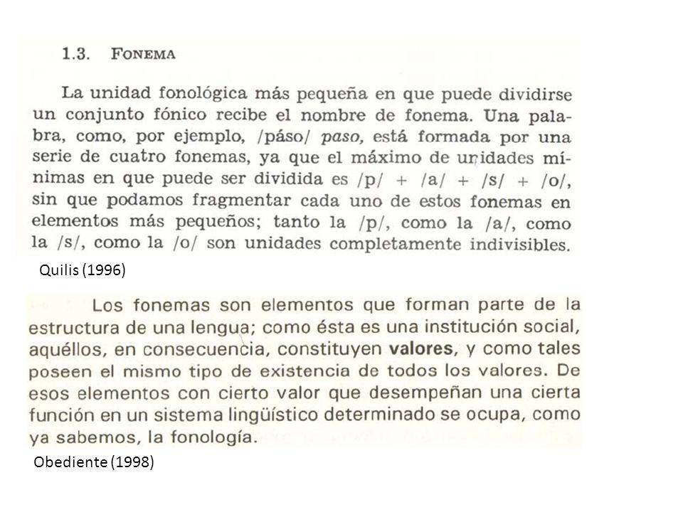 Obediente (1998) Quilis (1996)