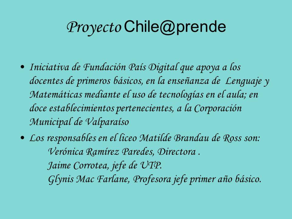 Proyecto Chile@prende Iniciativa de Fundación País Digital que apoya a los docentes de primeros básicos, en la enseñanza de Lenguaje y Matemáticas med