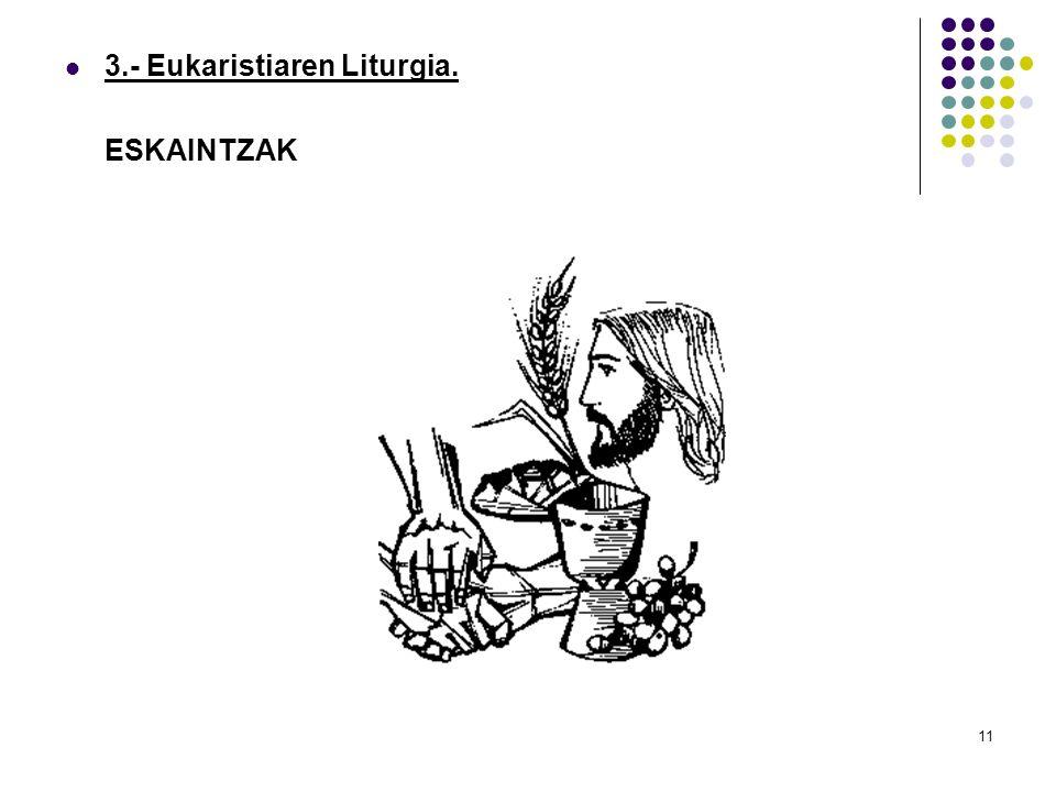 11 3.- Eukaristiaren Liturgia. ESKAINTZAK