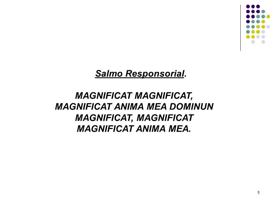 8 Salmo Responsorial. MAGNIFICAT MAGNIFICAT, MAGNIFICAT ANIMA MEA DOMINUN MAGNIFICAT, MAGNIFICAT MAGNIFICAT ANIMA MEA.