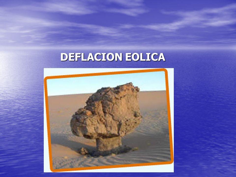 DEFLACION EOLICA DEFLACION EOLICA