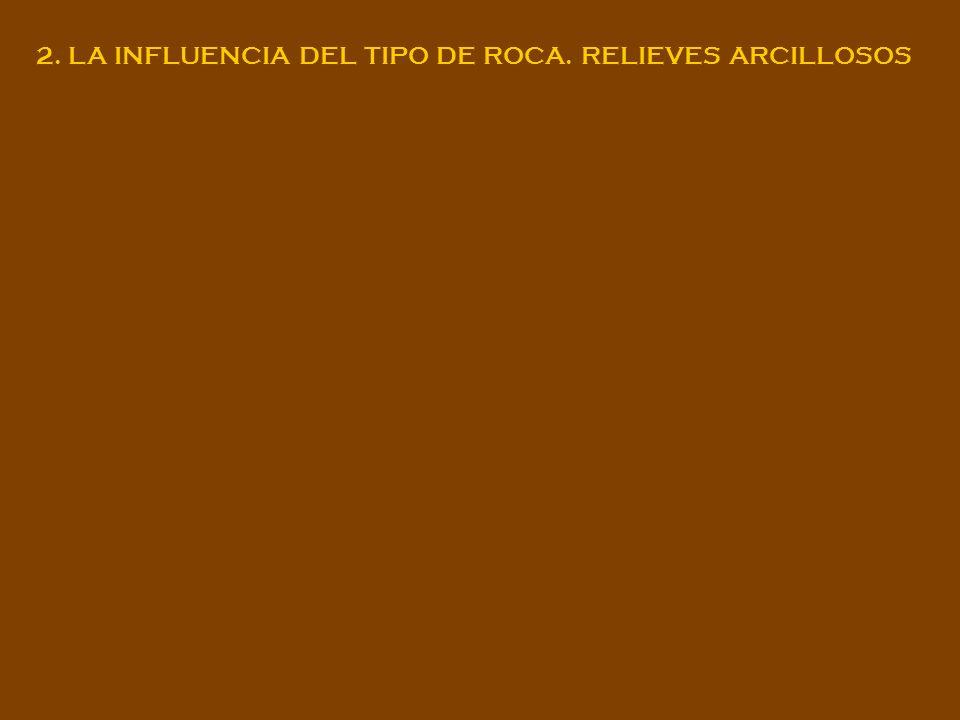 2. LA INFLUENCIA DEL TIPO DE ROCA. RELIEVES ARCILLOSOS