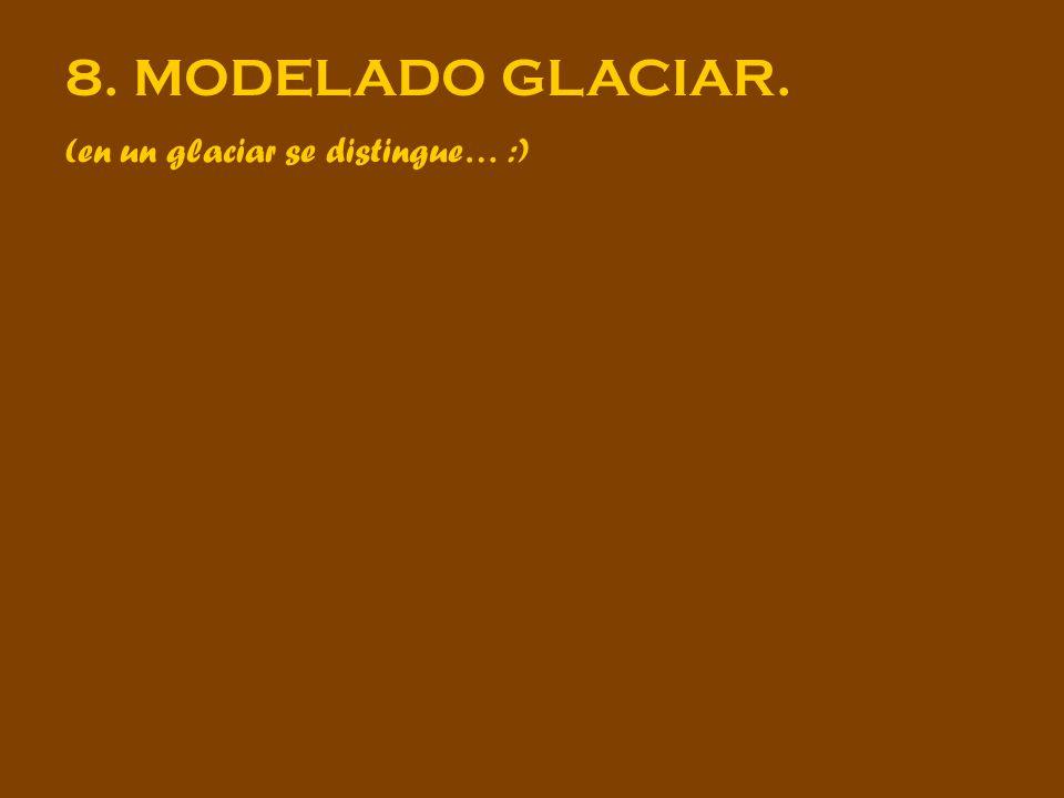 8. MODELADO GLACIAR. (en un glaciar se distingue… :)