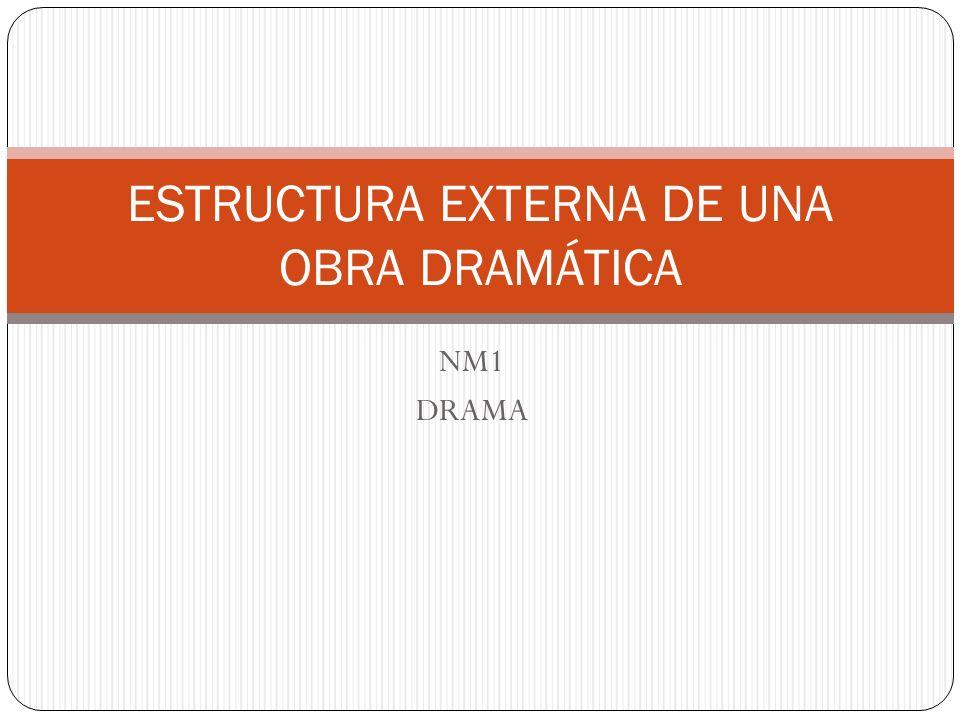 NM1 DRAMA ESTRUCTURA EXTERNA DE UNA OBRA DRAMÁTICA