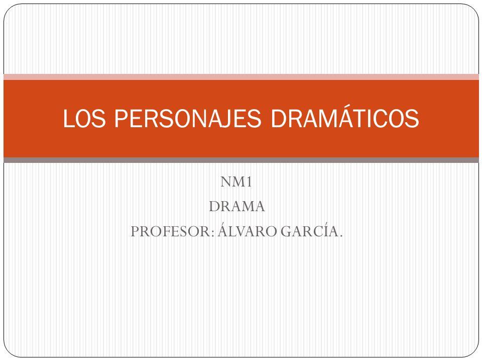NM1 DRAMA PROFESOR: ÁLVARO GARCÍA. LOS PERSONAJES DRAMÁTICOS