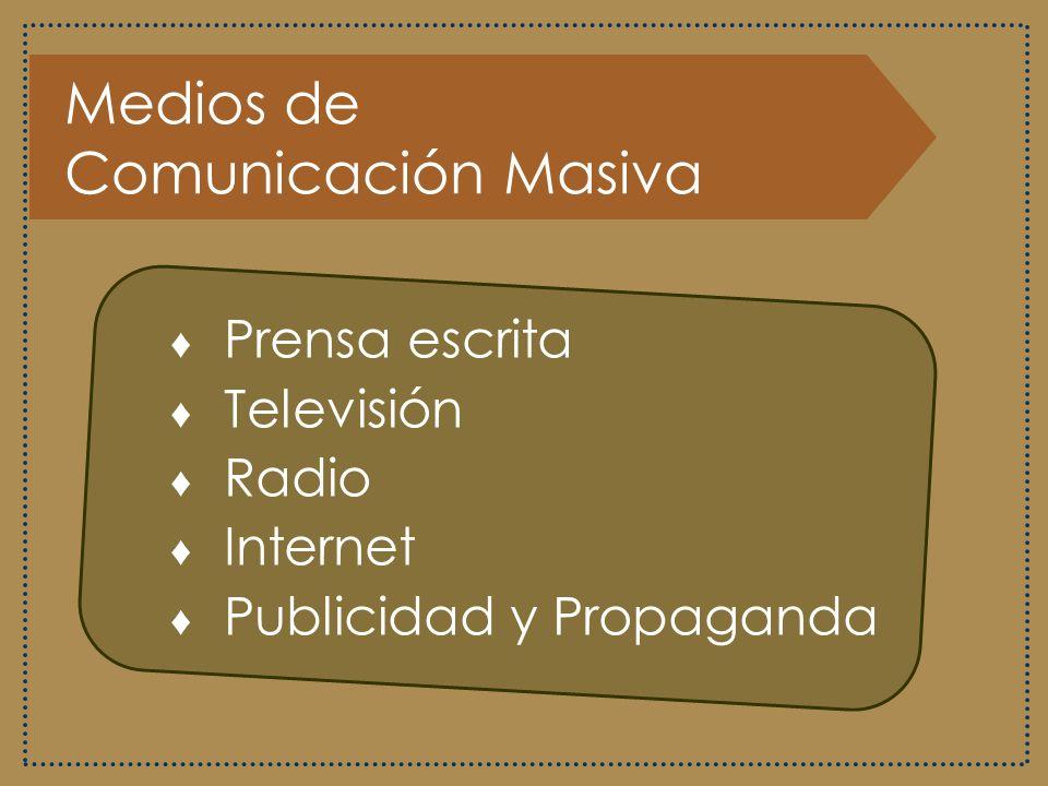 Funciones de los Medios de Comunicación Masiva Entretener Informar Plantear ideas Convencer Crear u orientar la opinión