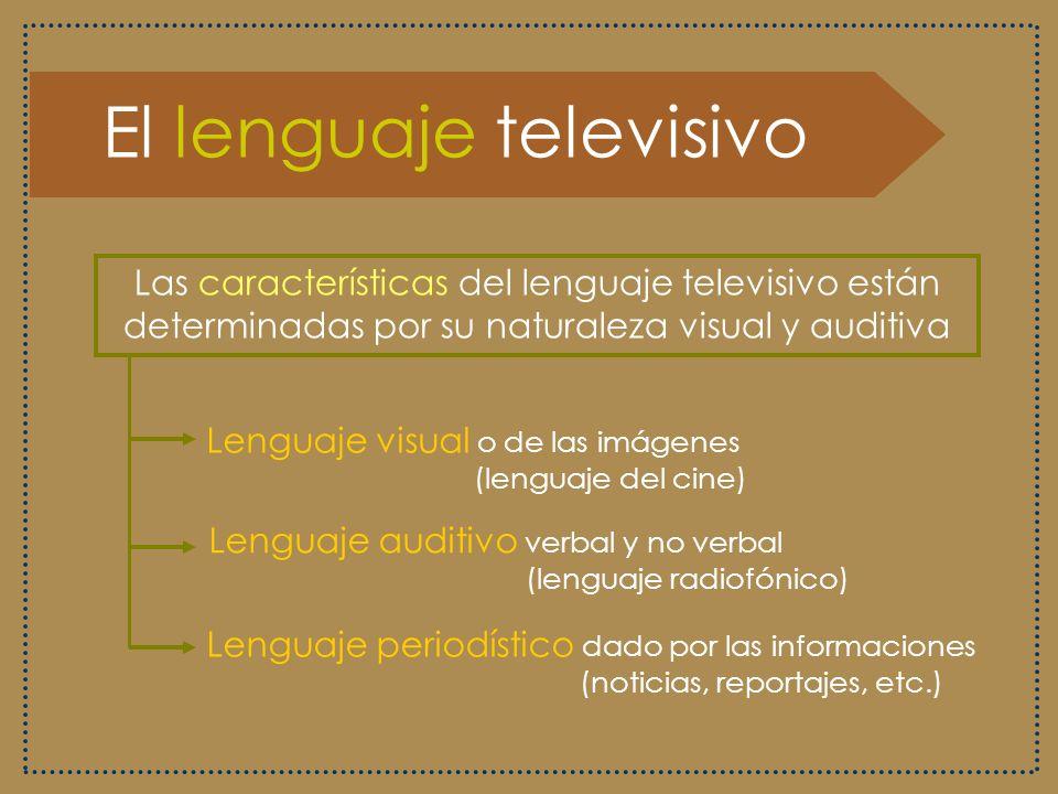 El mensaje televisivo Recursos para hacer más efectiva la comunicación e información Imagen Palabra Música y efectos sonoros